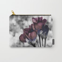Pop of Color Flowers Eggplant Blue Carry-All Pouch