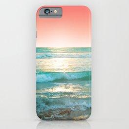 Aqua and Coral, 1 iPhone Case