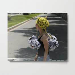Protect Your Head Metal Print