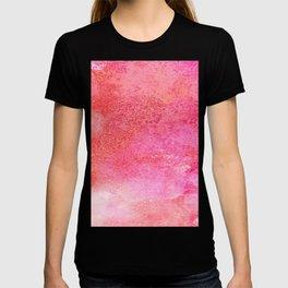 EVER SO WATERCOLOUR PINK RAINDROPS T-shirt