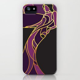 Art Deco Woman in Purple #1 iPhone Case