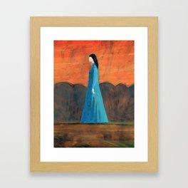 Standing in the Garden Framed Art Print