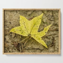 The Yellow Leaf Serving Tray