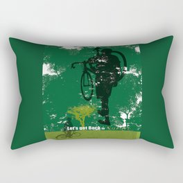 Let's get back to nature-Bycicle. Rectangular Pillow