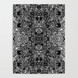 Black & white glass mosaic Poster