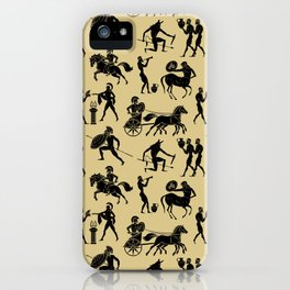 Greek Figures // Tan iPhone Case