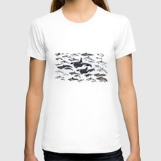 Dolphin diversity White Womens Fitted Tee MEDIUM