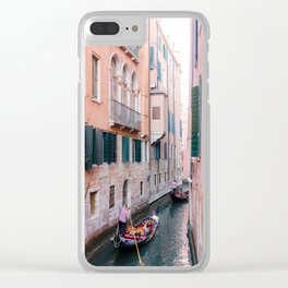 Venice Gondola Rides in Pink Clear iPhone Case