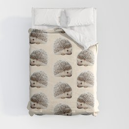 cute beige woodland animal baby hedgehog Comforters