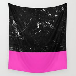 Pink Meets Black Marble #1 #decor #art #society6 Wall Tapestry