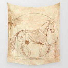 Da Vinci Horse In Piaffe Wall Tapestry