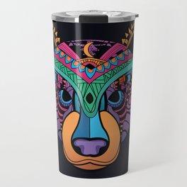 Bear with mandala patterns Travel Mug