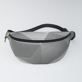 Grey polygonal geometric pattern . Fanny Pack