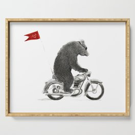 Motorcycle Bear Serving Tray