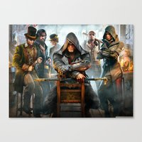assassins creed Canvas Prints featuring Assassins Creed by Tom Lee