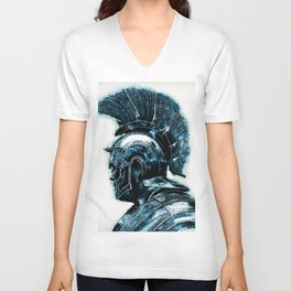 Portrait of a Roman Legionary Unisex V-Neck