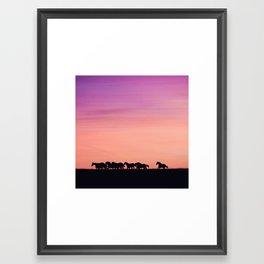 Sunset Sprint Framed Art Print