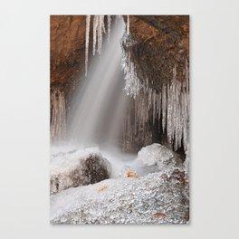 Stream of Frozen Hope Canvas Print