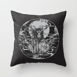 DREAMTIME - BLACK Throw Pillow