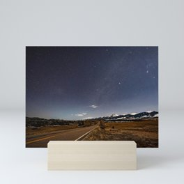 Sangre De Cristo Mountains At Night Colorado Rocky Mountain Landscape Mini Art Print