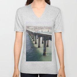 Redondo Pier, CA Unisex V-Neck