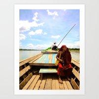 Burmese Water Taxi Art Print