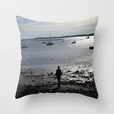 Walk on the Beach Throw Pillow