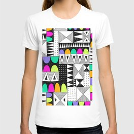 neon colors pattern with doodle elements. T-shirt