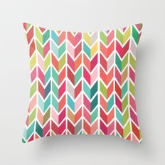 Aztec Arrows Chevron Throw Pillow