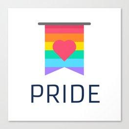 pride flag Canvas Print