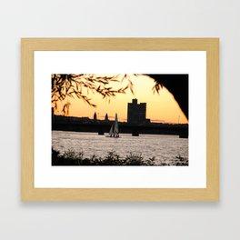 Sailboat on the Charles Framed Art Print