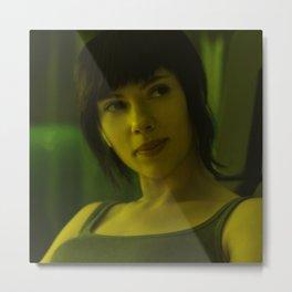 Scarlett Johansson - Celebrity (Florescent Color Technique) Metal Print