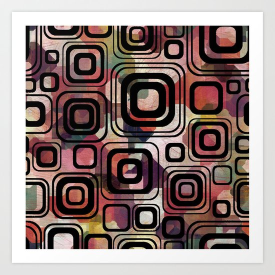 Retro cube Art Print