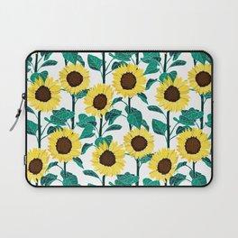 Sunny Sunflowers - White Laptop Sleeve