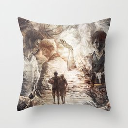 Farewell to the legend Throw Pillow