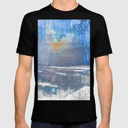 Blue Color Patches T-shirt