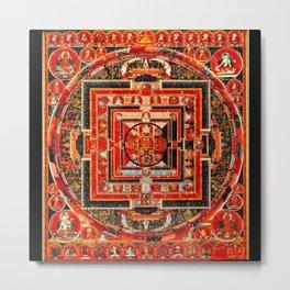 Mandala Buddhist 9 Metal Print