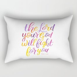 The Lord will fight for you Rectangular Pillow