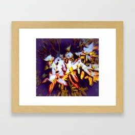 Air Brushed Snow Covered Bush  Framed Art Print
