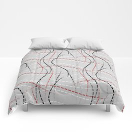 Stitches Abstract Comforters