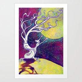 Longing for Luna Art Print