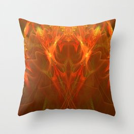 The Red Bird of death Throw Pillow