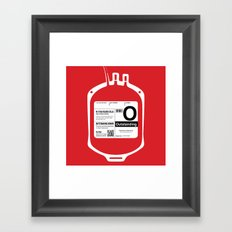My Blood Type is O, for Outstanding! Framed Art Print