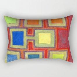 Colorful Screens on the Shelf Rectangular Pillow