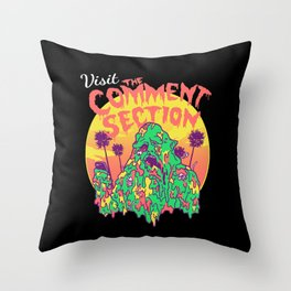 Visit the Comment Section Throw Pillow