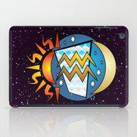 astrology iPad Cases featuring Astrology, Aquarius by Karl-Heinz Lüpke