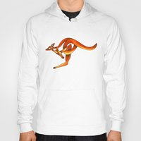 kangaroo Hoodies featuring Kangaroo by Knot Your World
