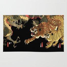 Sadahide's Dragon And Tigers Rug