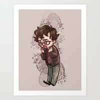 will graham Art Prints featuring will graham by krakenface