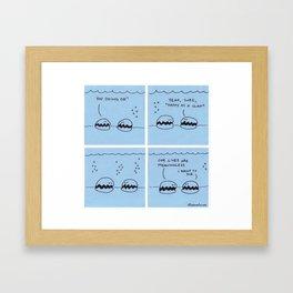 Happy As A Clam - Original Comic Framed Art Print